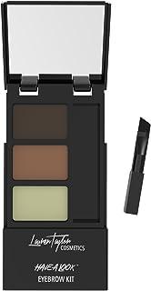 کیت ابرو توسط Lauren Taylor Cosmetics - پودر پودر دوقلو طولانی با موم، قلم مو و آینه. رنگ سایه ای نور و قهوه ای تیره است. ابروهای کامل با بهترین آرایش سایه ی براق ما!