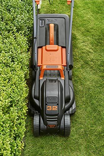 BLACK+DECKER BEMW351-QS Tondeuse filaire - 3 hauteurs réglables 20, 40 et 60 mm 1000W, 32 cm