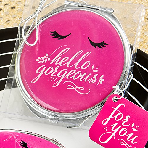 Fashioncraft 5970 Hello Gorgeous Metal Compact Mirror