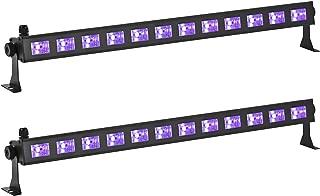 Eyourlife 2pcs 12 x 3 W LED UV Light Fixture with Bulb Black Light Effect Bar Disco Lights Stage DJ Lighting