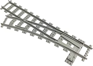 Trixbrix Left Switch R104, Compatible with Lego Train, 3D Printed