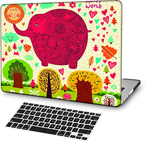 MingCaiFS Laptop Case for MacBook Pro 13' Retina (2019/2018/2017/2016,with/Without Touch Bar),Plastic Pattern Ultra Slim Light Hard Case Keyboard Cover (Model:A2159/A1989/A1706/A1708),Cartoon A 177