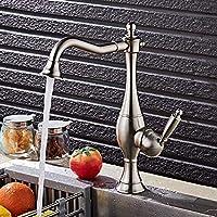 LT-LT キッチン蛇口 現代のミニマリストクロームメタルブラシキッチンの蛇口は、実用的な美しい回転したシンク浴室のシンクのホットとコールドメッキ蛇口セットすることができます