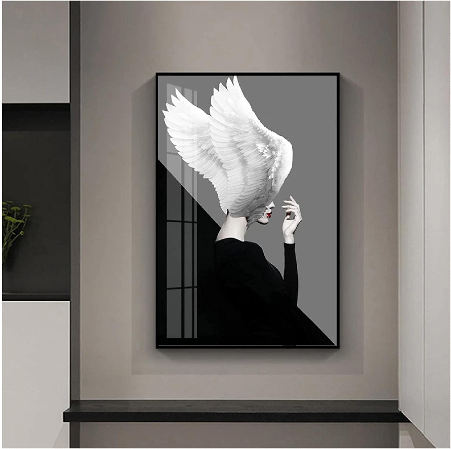 Cheap SALE Start Art Canvas Spasm price Painting Women Feather Nordic Posters Prints and Fig