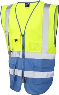 Leo Workwear Tarka Mens Hi Vis Vest High Visibility Reflective Tapes Waistcoat