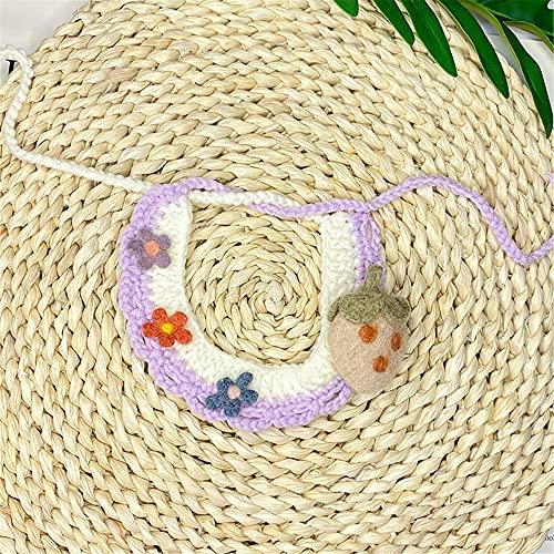TENGTUD Collar/Collar de Mascotas, Correa de Perrito de Gatito Collar de Frutas de Animales (25-32)