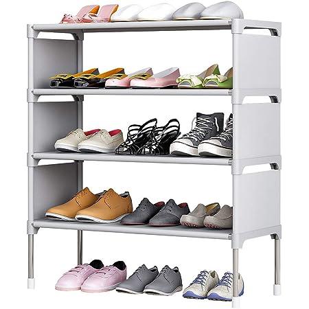 "US 23/""x11/"" Home 3Tier ShoeRack Shelf Non-woven Hallway Entryway Fabric Organizer"