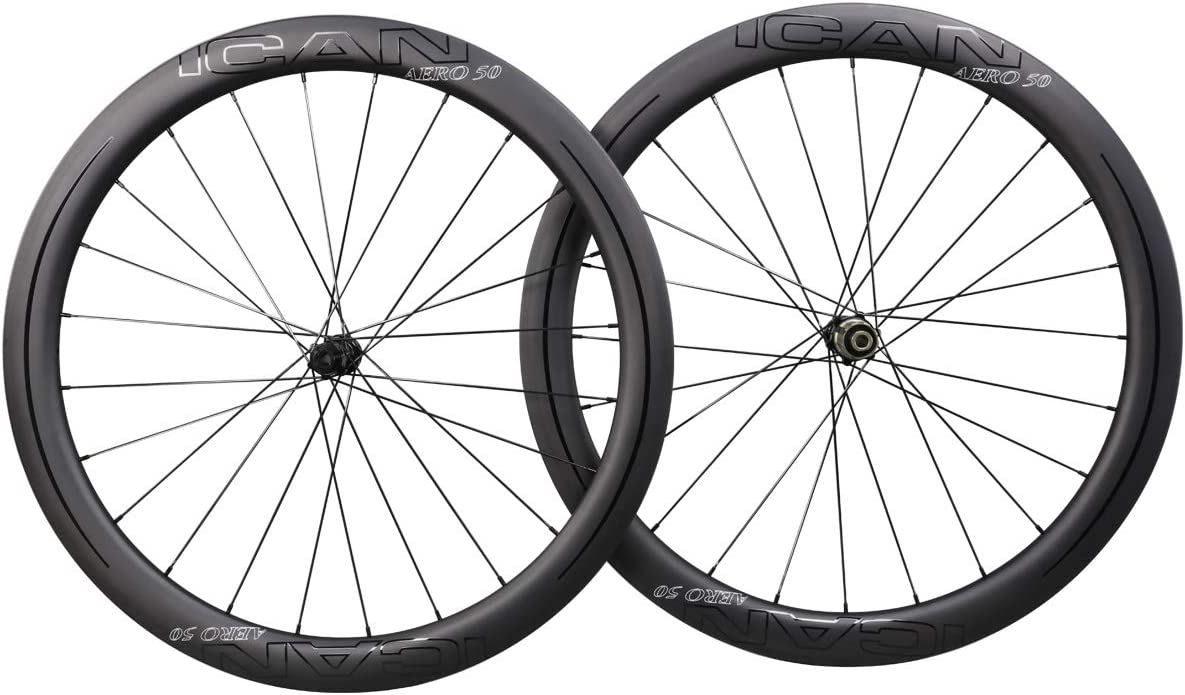 ICAN Carbon Wheels AERO 40 Ranking Outlet ☆ Free Shipping TOP14 Disc Wheelset 50mm Road Bike Clincher