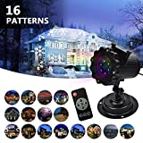 LIFU Christmas Lights Projector - 2019 Upgrade Version 16 Patterns LED Projector Landscape lamp Remote Control and Waterproof Perfect for Halloween or Christmas …