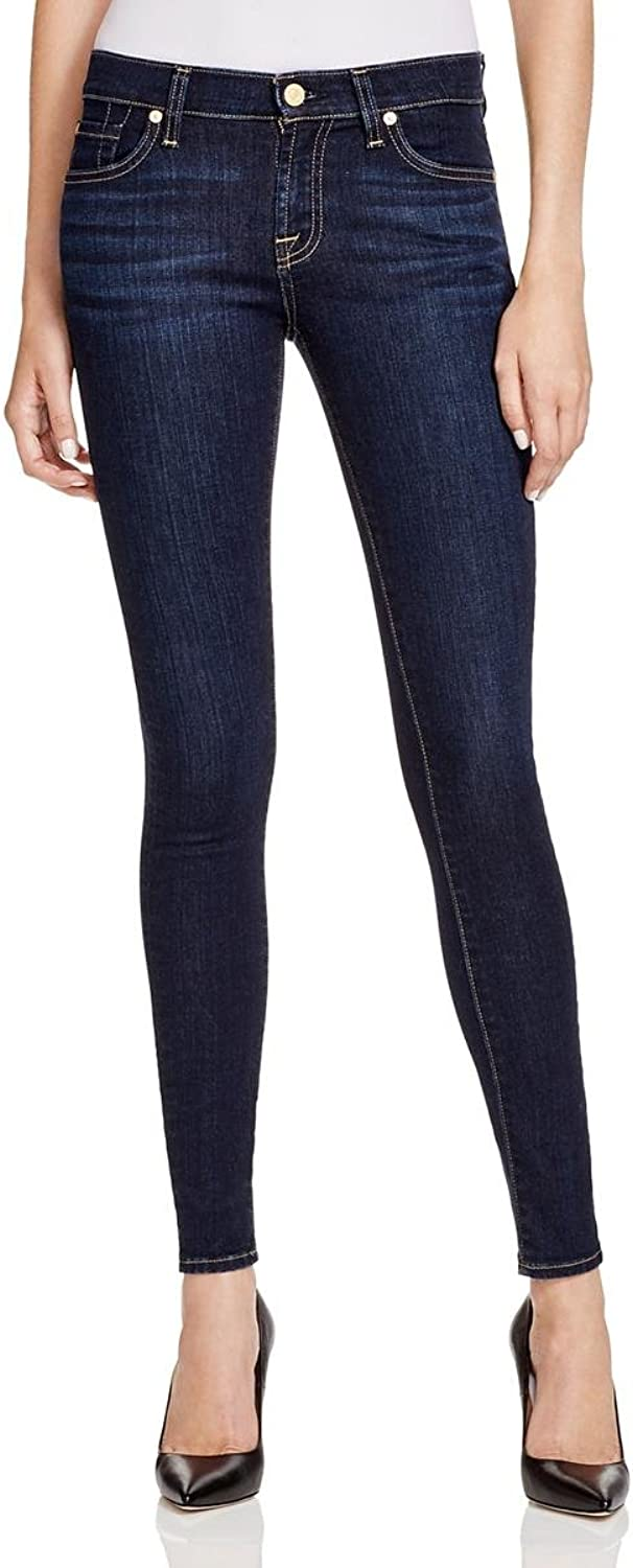 7 For All Mankind Womens Denim MidRise Skinny Jeans