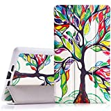 MoKo Google Nexus 7 2013 FHD 2nd Gen Case - Ultra Slim Lightweight Smart-Shell Stand Cover Case with Auto Wake/Sleep for Google Nexus 2 7.0 Inch 2013 Generation Android 4.3 Tablet, Lucky Tree