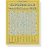 Póster vintage de las expresiones Marseillaises en palabras mezcladas, 30 x 40 cm, expresiones del sur de Francia y de Provence