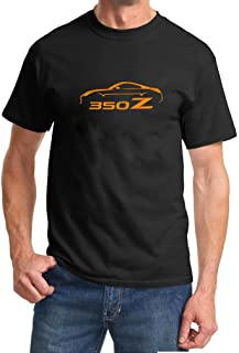 2002-08 Nissan 350Z Coupe Classic Orange Color Design Tshirt