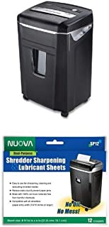 Aurora JamFree AU1400XA 14-Sheet Crosscut-Cut Paper / CD / Credit Card Shredder with Pull-Out Wastebasket and Sharpening a...
