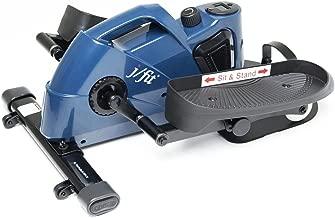 jfit Under Desk & Stand Up Mini Elliptical/Stepper w/Adjustable Angle   The Ideal Fitness & Exercise Equipment for Home  Ideal for Men, Women, Kids & Seniors  Premium Home Gym Equipment