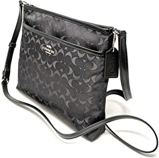 Outlined Zip File Crossbody