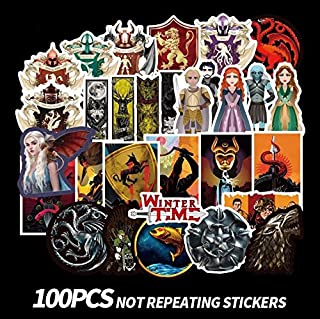 Game of Thrones Stickers [100PCS] Vinyl Decals for Laptop MacBook Water Bottle Hydro Flask MacBook iPhone iPad Phone Case Computer Car Bike Bumper Skateboard Luggage, Graffiti Sticker