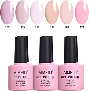 AIMEILI Gel Nail Polish Set Soak Off UV LED Gel Polish Multicolour/Mix Colour/Combo Colour Of 6pcs X 10ml - Gift Kit 31