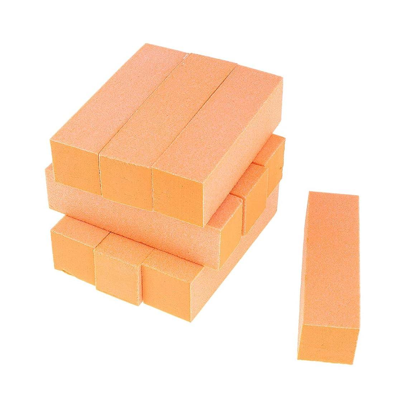 タールモーター演劇Toygogo 両面ネイルバッファーネイルシャイナースポンジネイルファイルサンディングブロック-ソフト&シルキー、10個-作成された滑らかで美しいネイル - オレンジ