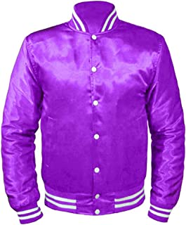 Original American Varsity Letterman College Baseball Bomber Satin Men Jackets