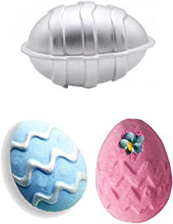 MoldFun 3D Easter Egg Aluminum Bath Bomb Soap Mold for DIY Homemade Bath Fizzies Also As Chocolate Mousse Cake Cupcake Mold