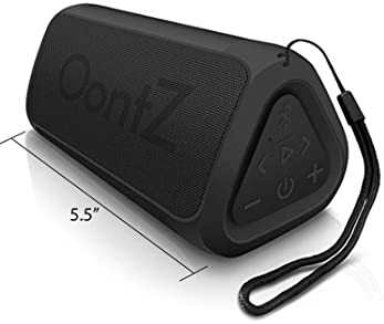 OontZ Angle 3 RainDance Edition Portable Bluetooth Speaker, Louder Crystal Clear Stereo Sound, Rich bass, 100 Ft Wire...