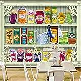 Wuyyii カスタム写真の壁紙カスタム3Dステレオキャビネットスナックジャムの背景壁壁画レストラン店モール子供部屋壁紙A-280X200Cm