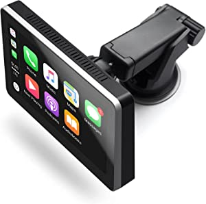 Car and Driver INTELLIDASH PRO Wireless Apple Carplay ONLY 7'' IPS Touchscreen with Bluetooth, SiriusXM, Siri Assistant. Dash Windshield Mounted