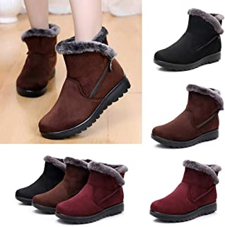 Outtop(TM) Women Winter Snow Boots Ladies Fur Footwear Warm Short Martain Booties Shoes