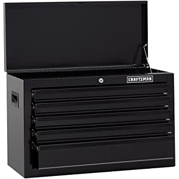 "Craftsman 26"" Wide 5-Drawer Standard-Duty Top Chest - Black"