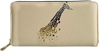 UNICEU Women Girls Long Clutch Wallet Cute Animal Printed PU Leather Travel Purse Card Holder