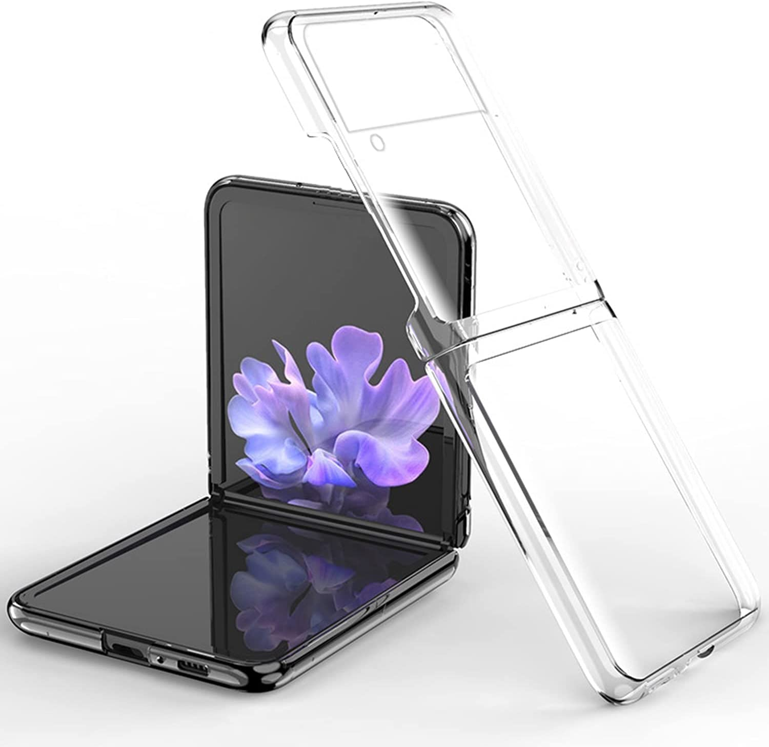 Phone Case for Galaxy Z Flip 3, Ultra Thin PC Hard Full Protection Case Compatible with Samsung Galaxy Z Flip 3 5G (Clear)