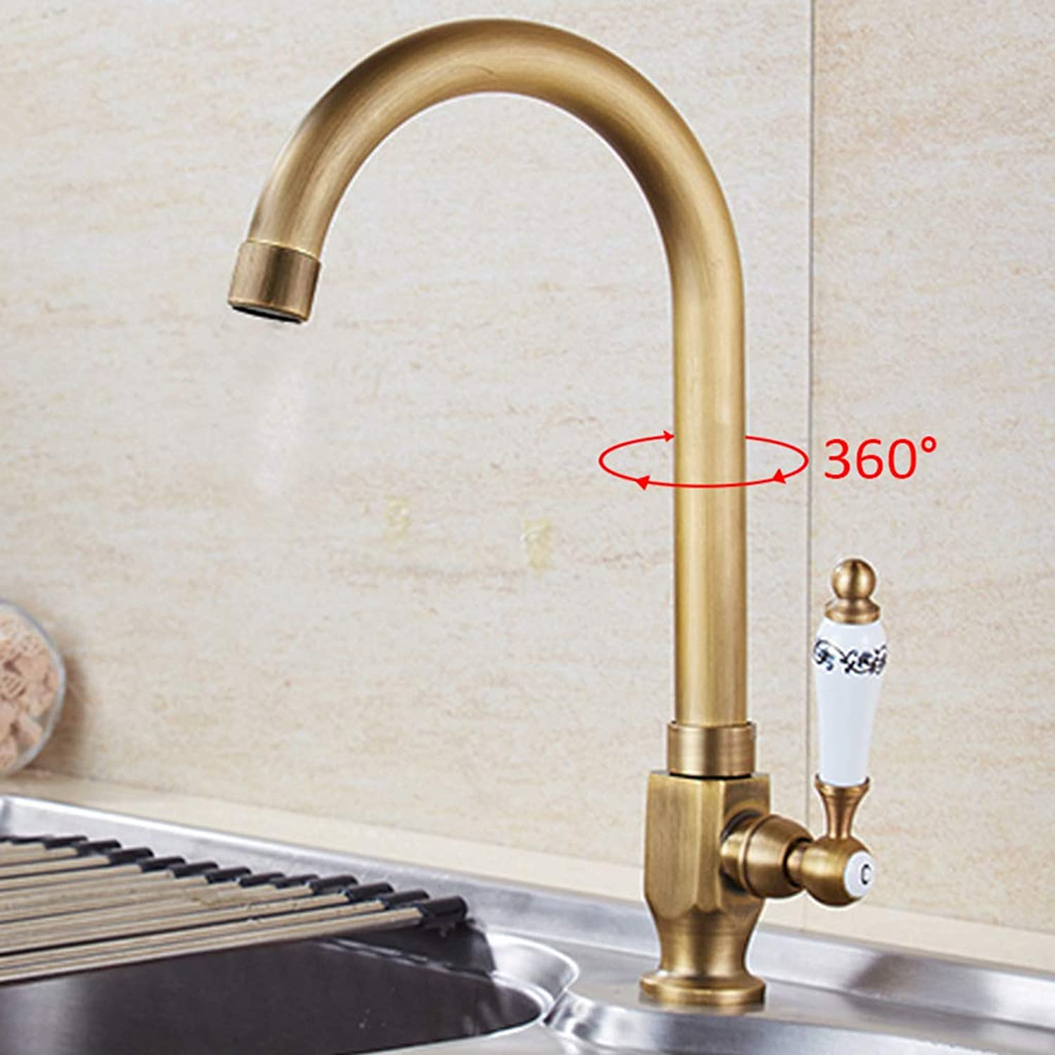 Kitchen faucet Antique Single Cold, redating greenical European Sink Faucet, Sanitary Ware Faucet