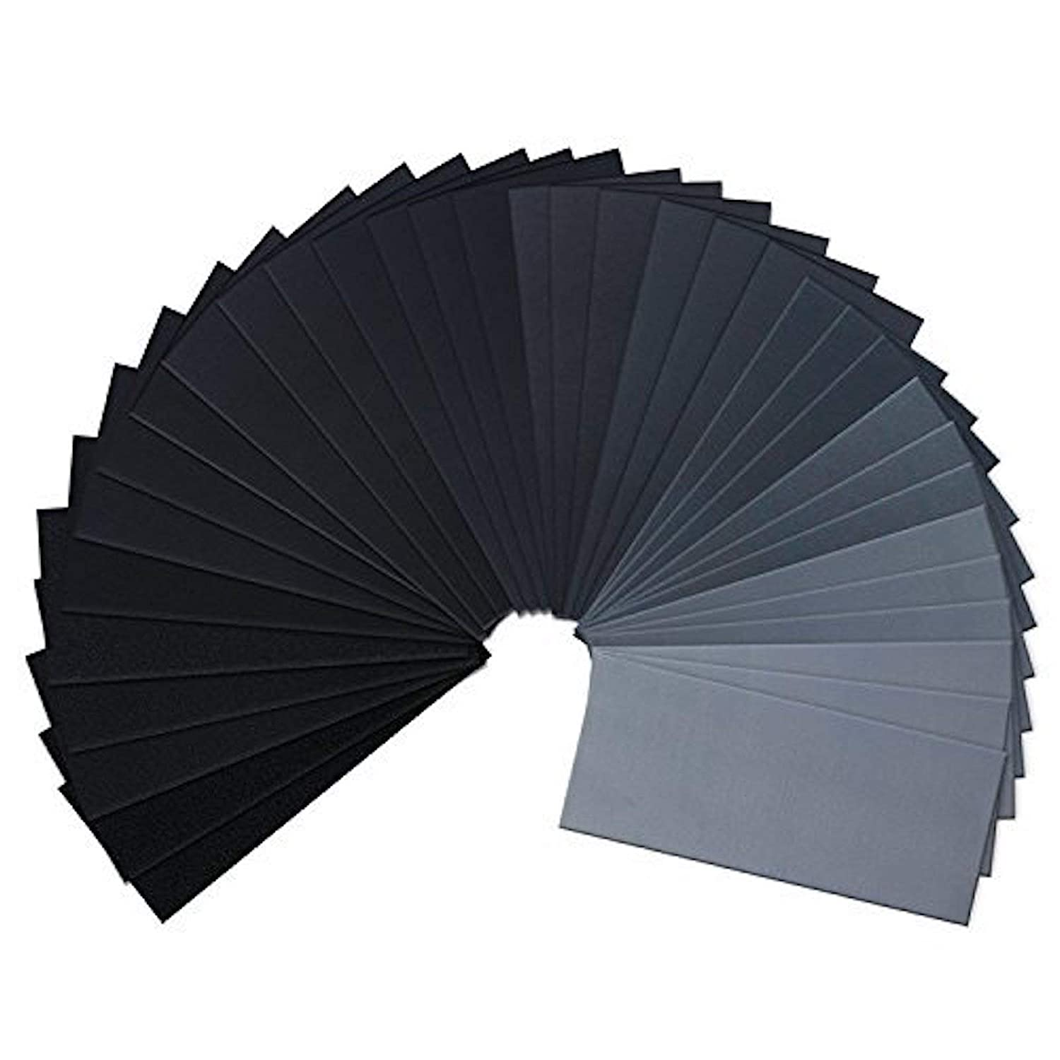 Coceca 120pcs Wet Dry Sandpaper 120 to 3000 Assorted Grit Sandpaper for Wood Furniture Finishing, Metal Sanding and Automotive Polishing,
