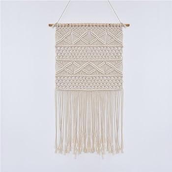 Hecha a mano tapiz colgar en la pared algodón hilo de punto hecho ...