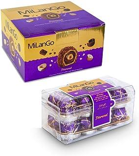 Milango Diamond Fine Hazelnut Milk Chocolate (Pack of 200 Gram (2Count))