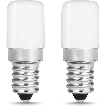 LOHAS Lot de 2 Lampe E14 LED Ampoule pour Réfrigérateur / 1.5 W - Puissance équivalente à une Lampe de 15 Watt,Blanc Chaud- 2700K