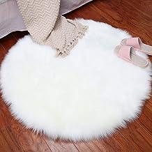 Plush Rug Round Yoga Game Pad Home Decoration Living Room Corridor Door Mat Non-Slip Durable Carpet,5,45cm