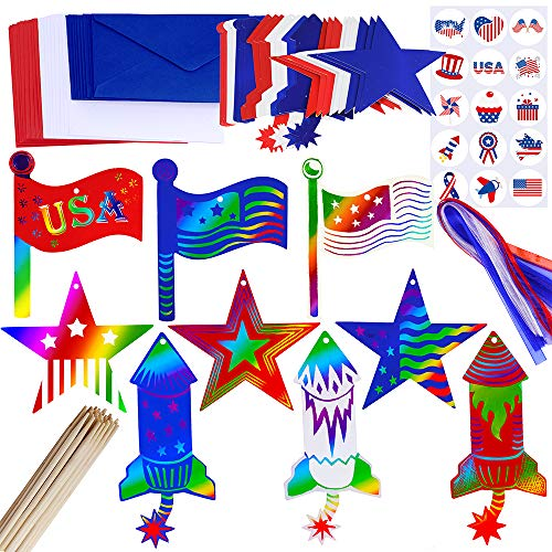 Supla 27 Set Patriotic Party Decoration Red White Blue Decoration 4th of July Patriotic Magic...