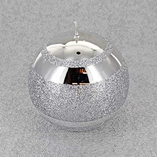 G Decor Silver - Velas de Tres Franjas (Vela Plateada)