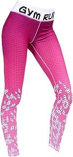 Baosity Yoga Leggings Stretch Ladies Fitness Pants Breathable Workout Athletic Pants (S-XL)