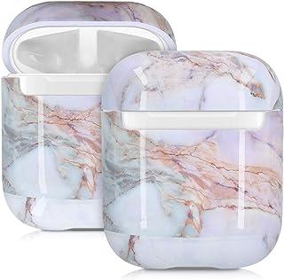 kwmobile hörlurar fodral kompatibelt med Apple AirPods – anti-repor skyddande tvådelad öronsnäcka – AirPod marmor flerfärg...