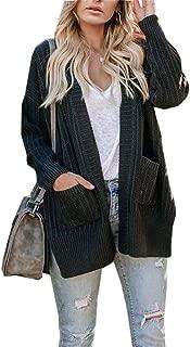 leyay Women Plus Size Side Split Cardigan Sweaters Fall Long Sleeve Crisscross Tie Casual Raglan Sweater Coat with Pocket