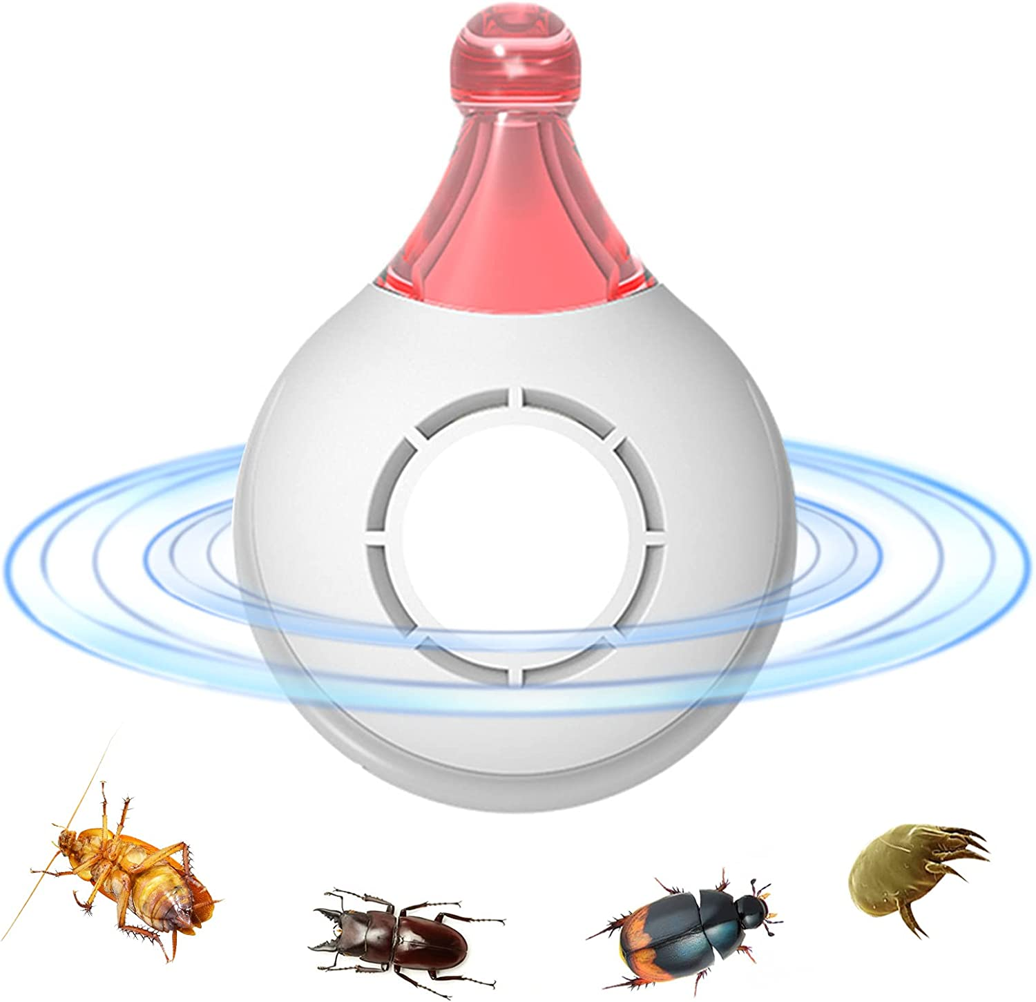 Pets Ultrasonic Repeller Flea Prevention and Tick Control Insect Repellent Pest Flea Tick Lice Repeller Pet Supply Travel Repellent Rechargeable Chemical-Free Pet Accessories for Maximum Protectio