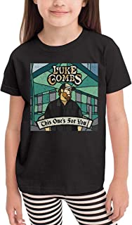 RhteGui Luke Combs Boys /& Girls Junior Vintage Long Sleeve T-Shirt Black