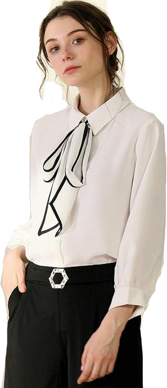 Lazo Cinta Camisa Blanca Encaje Gasa Camisa Blusa Blusa ...