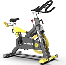 L NOW Indoor Exercise Bike Indoor Cycling Stationary Bike Commercial Standard Belt Drive With 35 Lb Flywheel& Magnetic Resistance&LCD Monitor& Heart Rate for Home Cardio Workout Quiet and Smooth(D501)