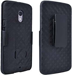 Droid Maxx 2 Case, Moto X Play Case, Rome Tech OEM Protective Slim Cell Phone Case with Kickstand Clip Holster for Motorola Droid Maxx 2 - Black