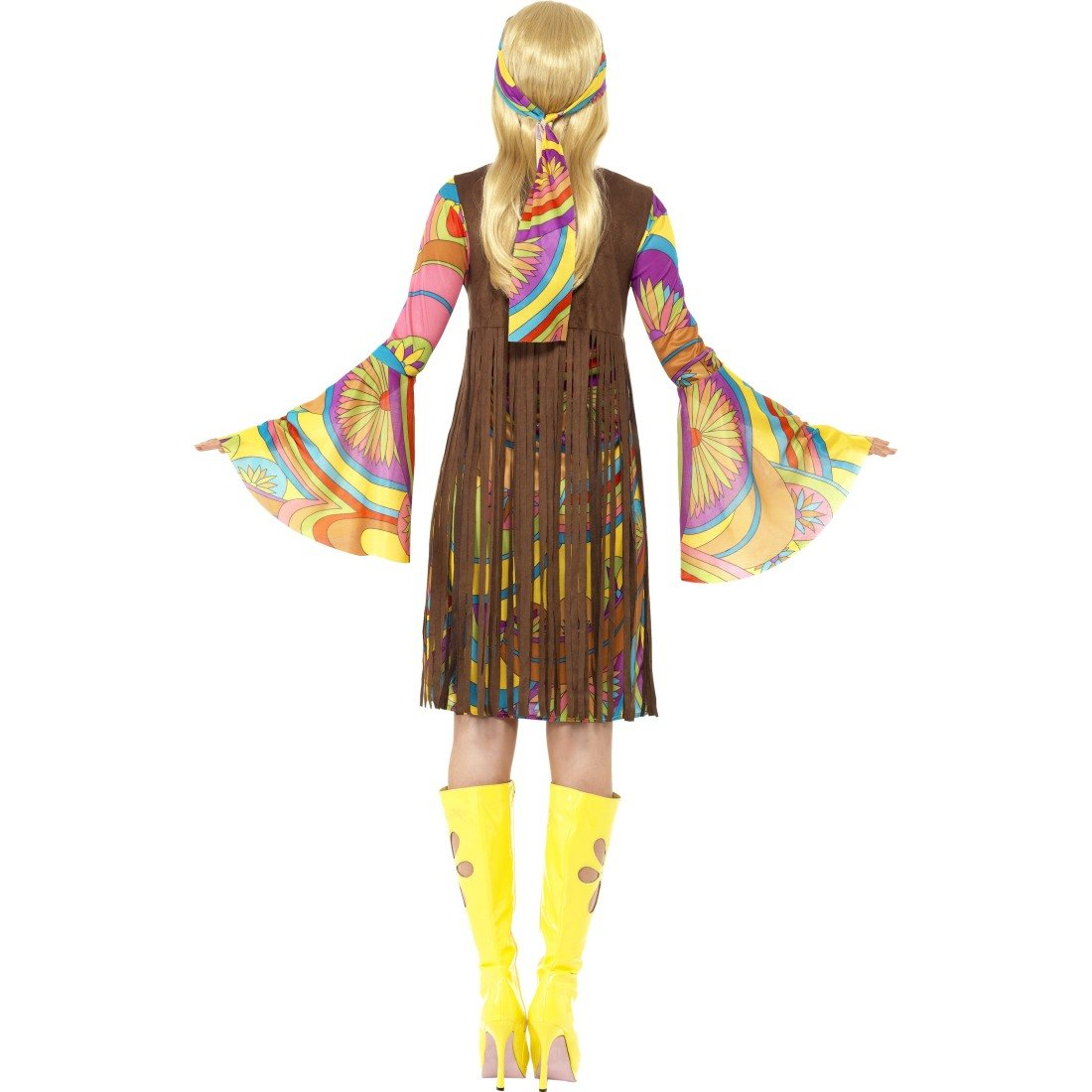 Colourido disfraz de equipo 70er hippie años vestido de neón 60 ...