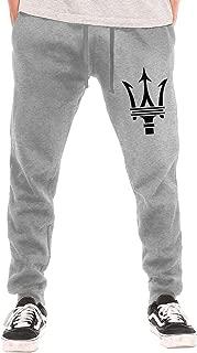 Syins Man Personalized Maserati Trident Logo New with Pockets Sports Pants Gray